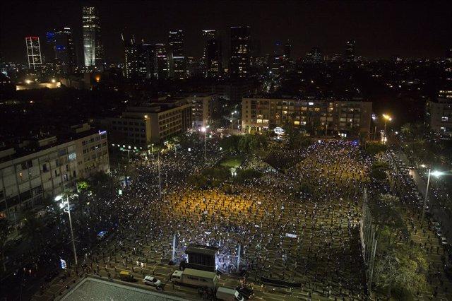 Israel.- Gantz pierde apoyo en las encuestas tras pactar un gobierno con Netanya