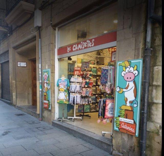 Tienda de recuerdos en Oviedo.