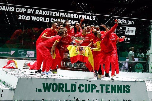 Equipo español de Copa Davis campeón en 2019