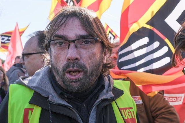 El secretari general d'UGT Catalunya, Camil Ros