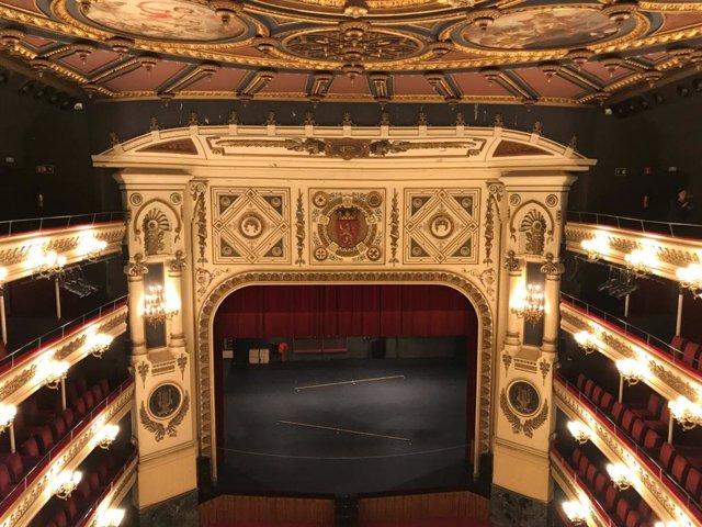 Teatre Principal sostre, escenari, platea i llotges (arxiu)