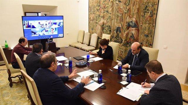 Videoconferencia con delegados provinciales