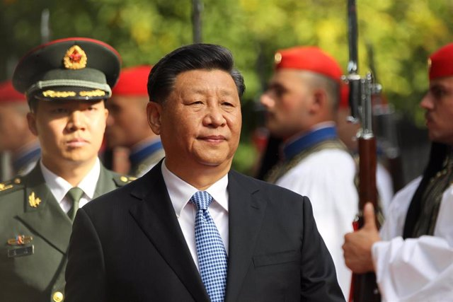 El presidente de China, Xi Jinping, en una visita oficial a Grecia