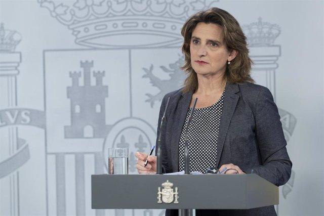 La ministra para la Transición Ecológica y el Reto Demográfico y vicepresidenta cuarta del Gobierno, Teresa Ribera
