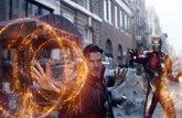 """Foto: Imagen """"oficial"""" de Doctor Strange con la armadura de Iron Man en la escena eliminada de Vengadores: Infinity War"""