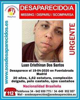 Sucesos.- Buscan a un joven de 20 años desaparecido desde hace nueve días en Fue