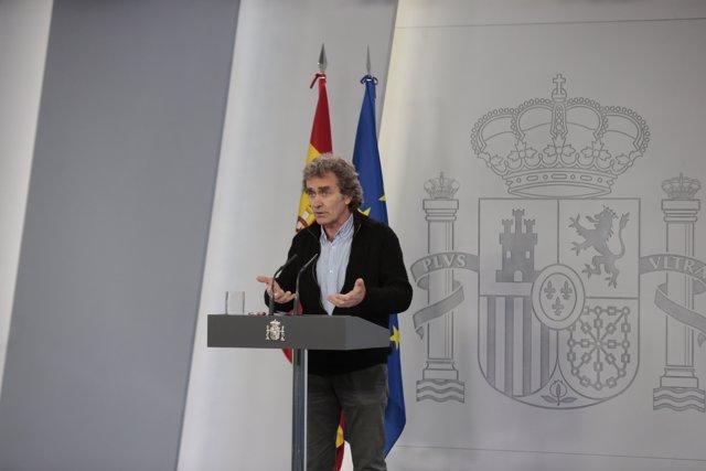 El director del Centro de Coordinación de Alertas y Emergencias Sanitarias, Fernando Simón, durante la comparecencia tras el Comité técnico de seguimiento.