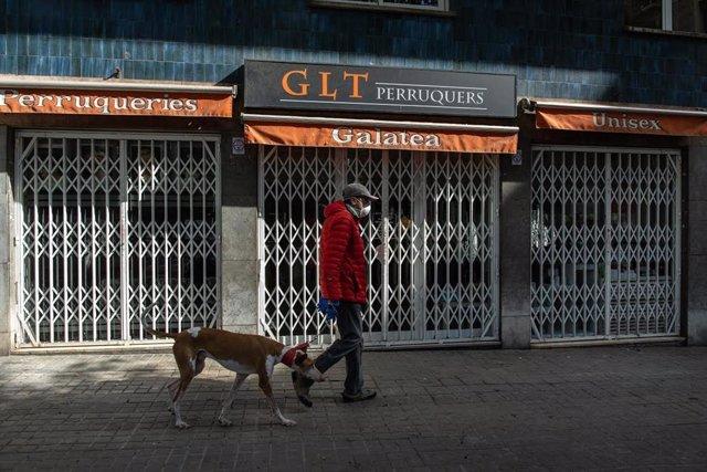 Lugar donde se ha encontrado el muerto sin hogar en Barcelona
