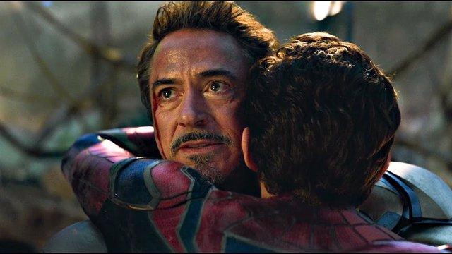 Iron Man y Spider-Man en Vengadores: Enddgame