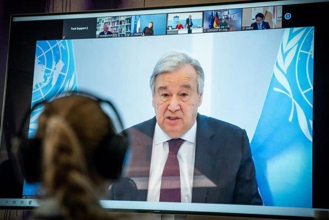 Antonio Guterres ha participado vía telemática en el Diálogo Climático de Petersburgo.