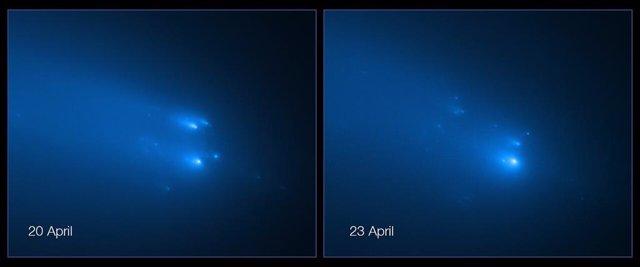 La imagen más nítida de la destrucción del cometa ATLAS