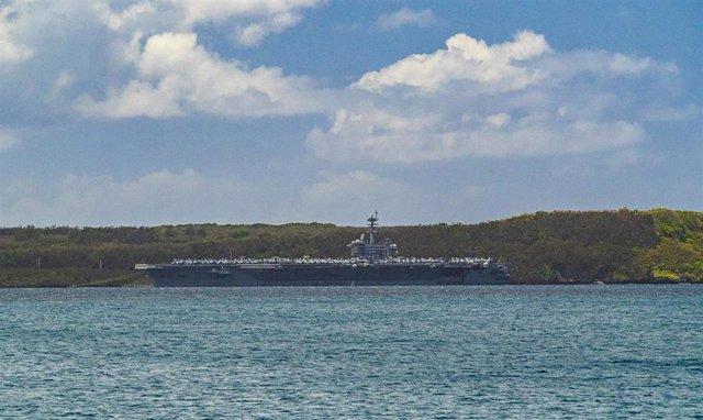 El portaaviones estadounidense 'USS Theodore Roosevelt'.