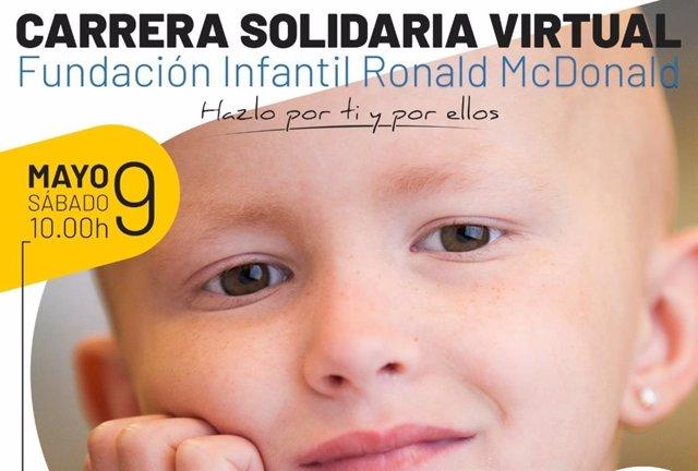 Fundación Infantil Ronald McDonald organiza una carrera solidaria virtual para comprar material sanitario