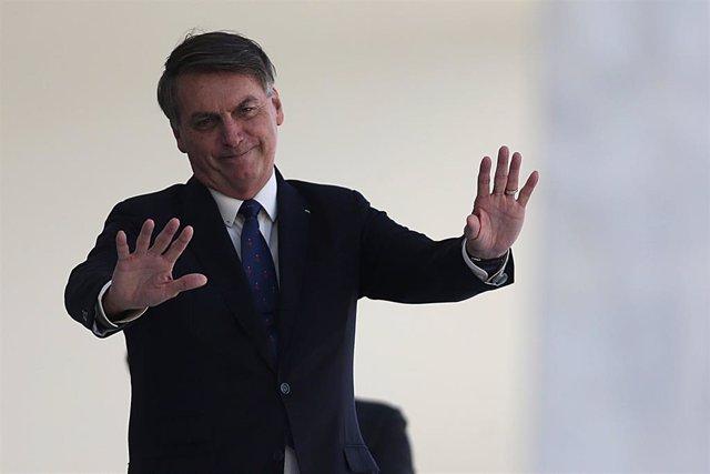El presidente de Brasil, Jair Bolsonaro, en Río de Janeiro