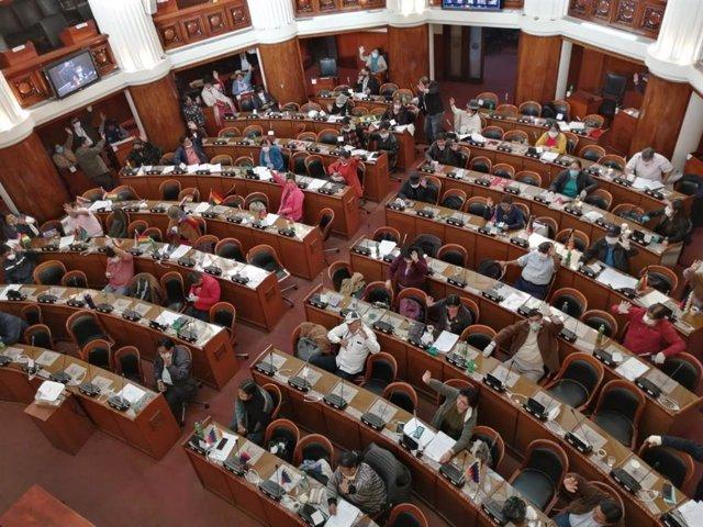 La Cámara de Diputados de Bolivia.
