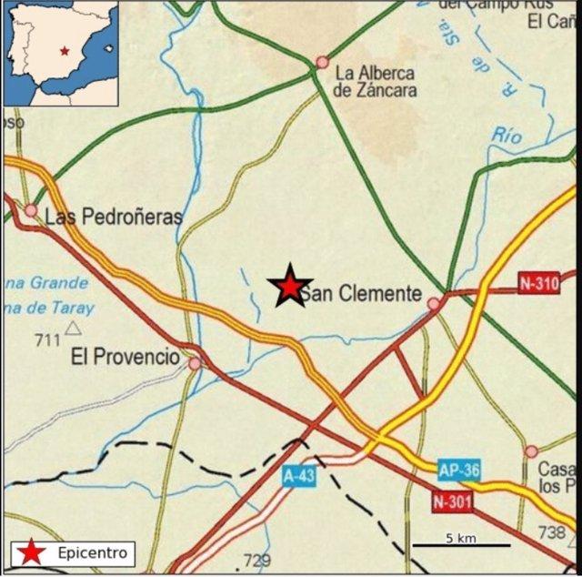 Registrado un terremoto de 3,1 grados en El Provencio (Cuenca)