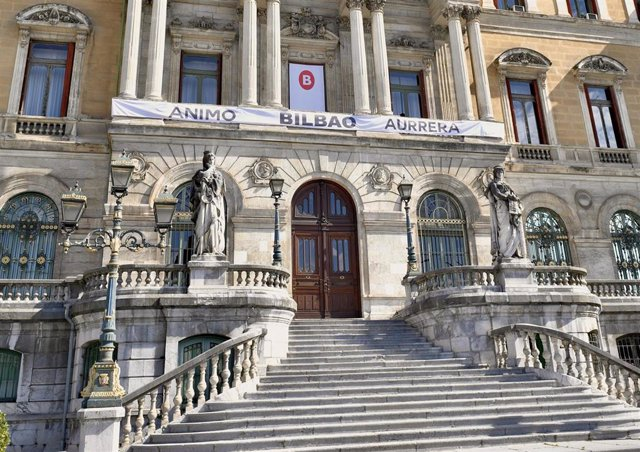 El Ayuntamiento de Bilbao con mensaje de ánimo ante la pandemia del coronavirus