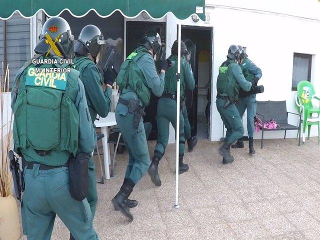 Guardia Civil en el marco de la operación Bicigula