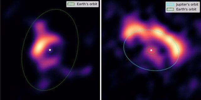 Dos bordes interiores de discos protoplanetarios observados en el nuevo estudio