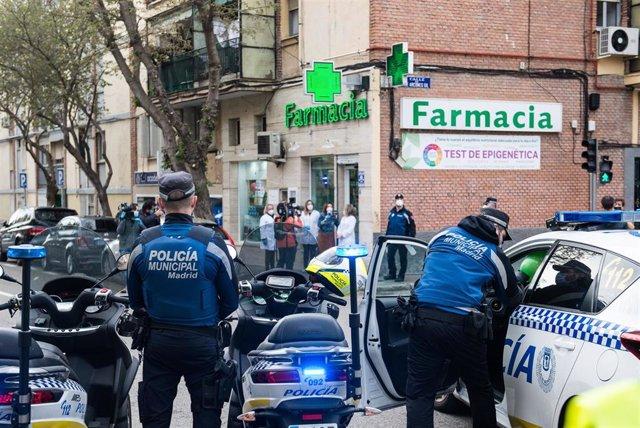 Varios miembros de la Policía Municipal de Madrid.
