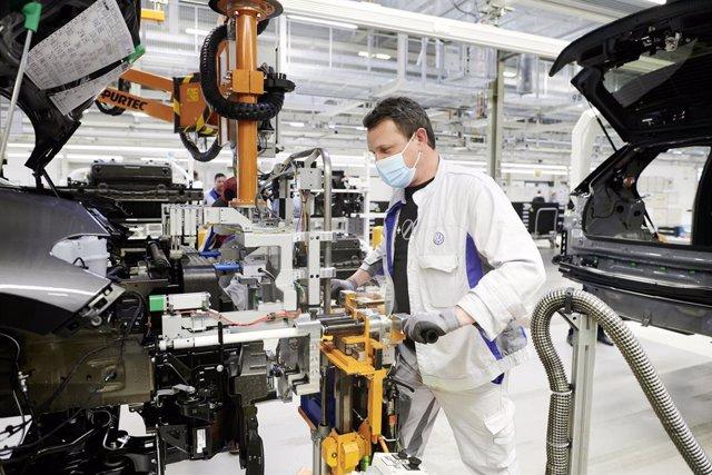 Producción de Volkswagen en Zwickau (Alemania)