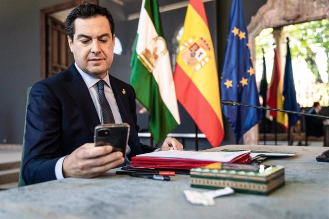 El presidente de la Junta de Andalucía, Juanma Moreno.