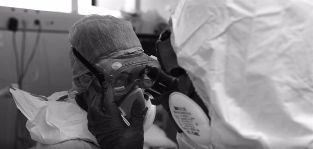 Fotograma del vídeo-homenaje del Hospital Son Llàzter a sus trabajadores y pacientes.