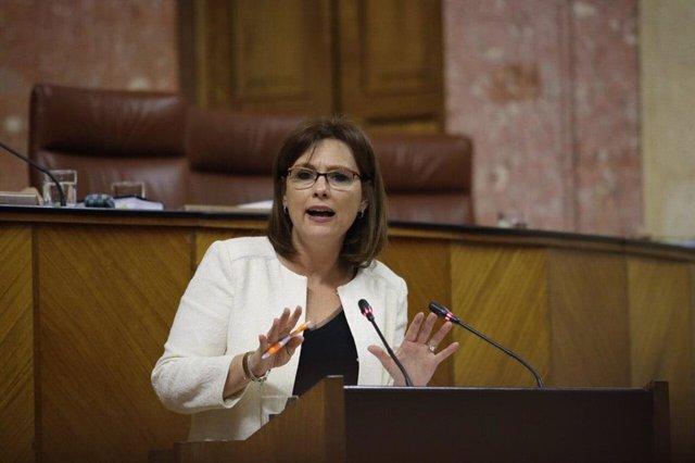 La diputada parlamentaria del grupo Ciudadanos (Cs) y portavoz de la Comision de Educación, Mar Sánchez.