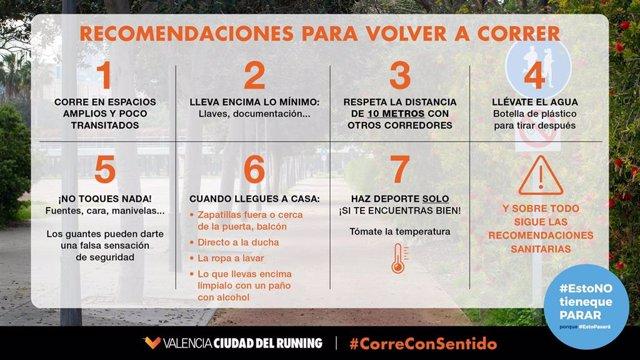 Consejos de Valencia Ciudad del Running para volver a correr