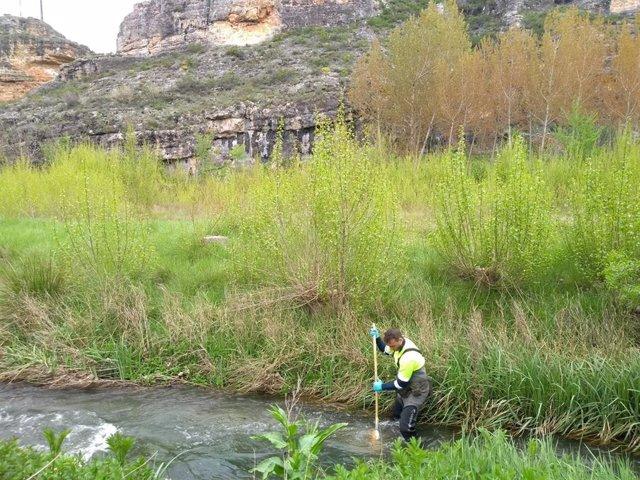 Muestreo en el río Escalote.