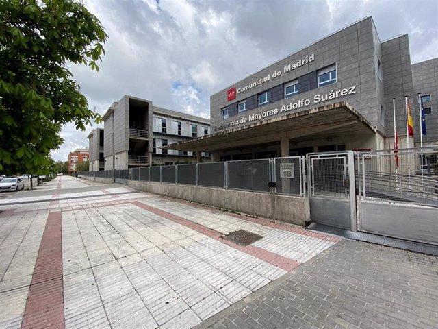 Fachada de la residencia de ancianos Adolfo Suárez de Madrid, a la que efectivos del Samur y Policía Municipal accedieron para revisar las instalaciones.