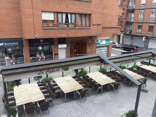 Terraza hostelera cerrada por el Estado de Alarma