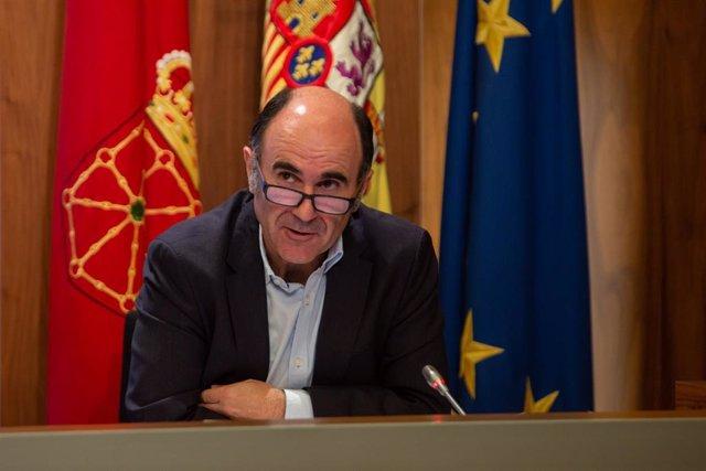 El consejero de Desarrollo Económico del Gobierno de Navarra, Manu Ayerdi.