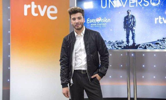 Blas Cantó durante la presentación de 'Universo'