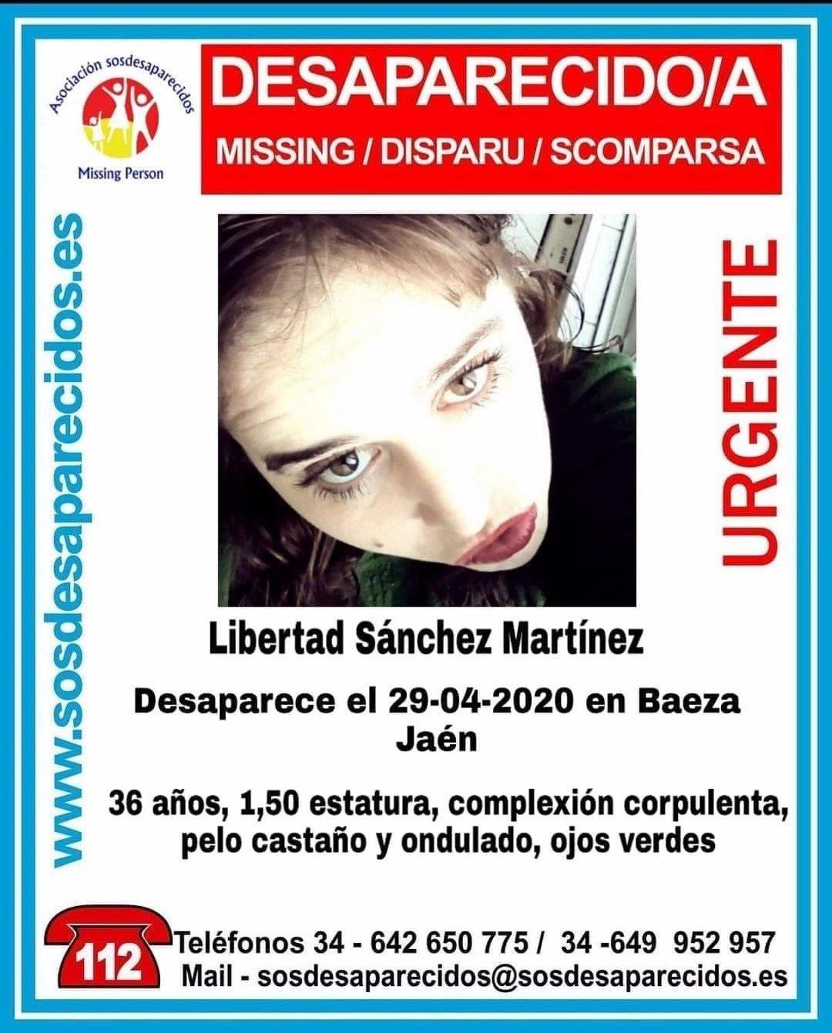 Buscan a una mujer de 29 años desaparecida este miércoles en