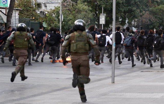 Protestas en Chile (Imagen de archivo)
