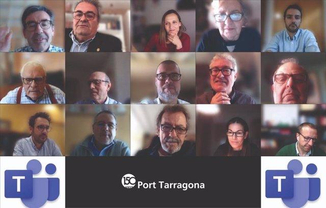 El Puerto de Tarragona celebrado su primer consejo de administración telemático de su historia, por el coronavirus, el 30/4/2020