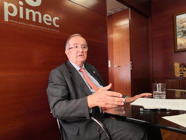 Presidente de Pimec, Josep González, en una imagen de archivo.