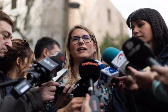La presidenta de JxCat en el Ayuntamiento de Barcelona, Elsa Artadi, en una imagen de archivo.