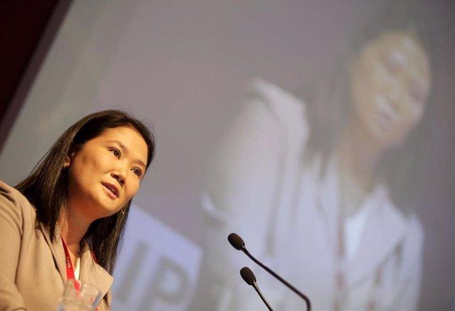 Keiko Fujimori, excandidata a las elecciones presidenciales de Perú.