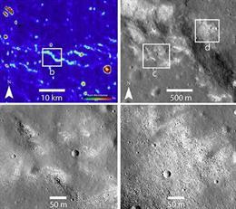 Evidencia de un sistema tectónico activo en la Luna