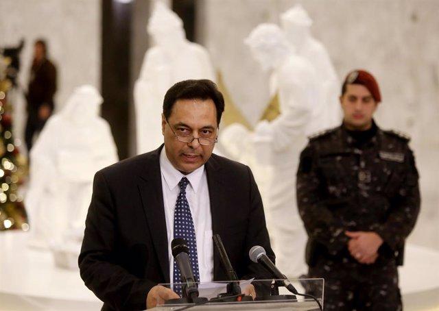 Líbano.- El primer ministro de Líbano firma la carta de solicitud de un rescate