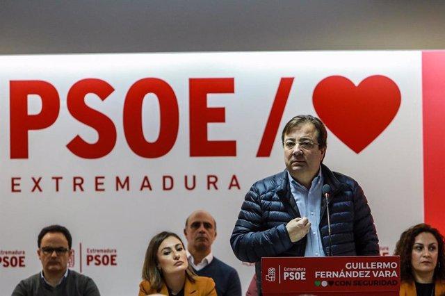 Fernández Vara, en la sede del partido, en una imagen de archivo.