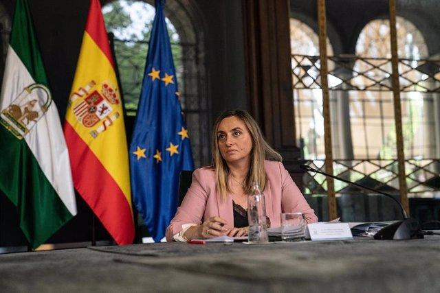 La consejera andaluza de Fomento, Infraestructuras y Ordenación del Territorio, Marifrán Carazo.