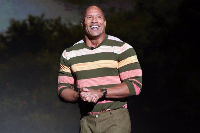 Dwayne Johnson Of 'Jungle Cruise' Took Part Today In The Walt Disney Studios