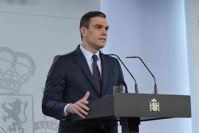 Coronavirus.- Sánchez pedirá al Congreso la cuarta prórroga del estado de alarma