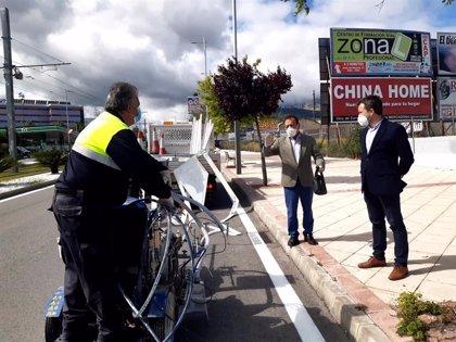 Ayuntamiento de Jaén aprovecha el confinamiento para repintar marcas viales