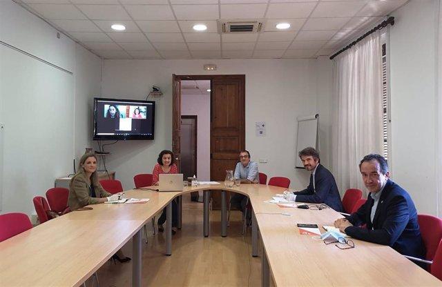 Reunión del Govern con representantes de los partidos políticos con presencia en el Parlament para tratar el plan de Reactivación y Transformación Económica y Social de Baleares.