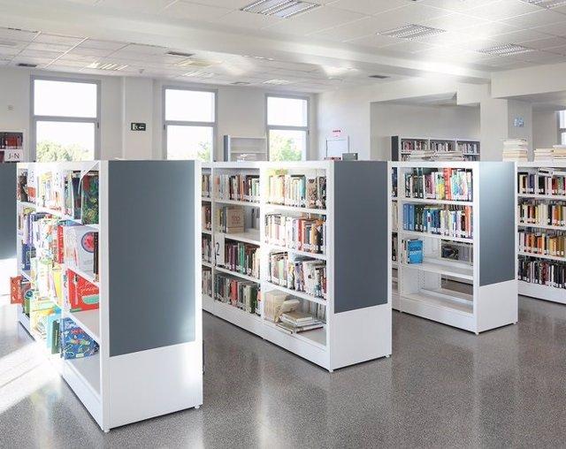 Una biblioteca en Getafe.