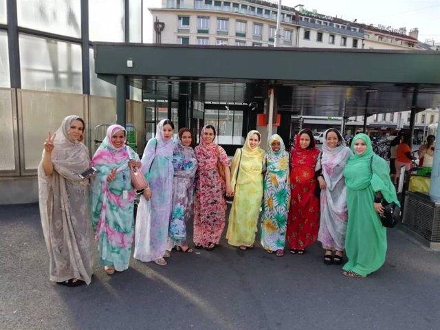 Grupo de activistas saharauis